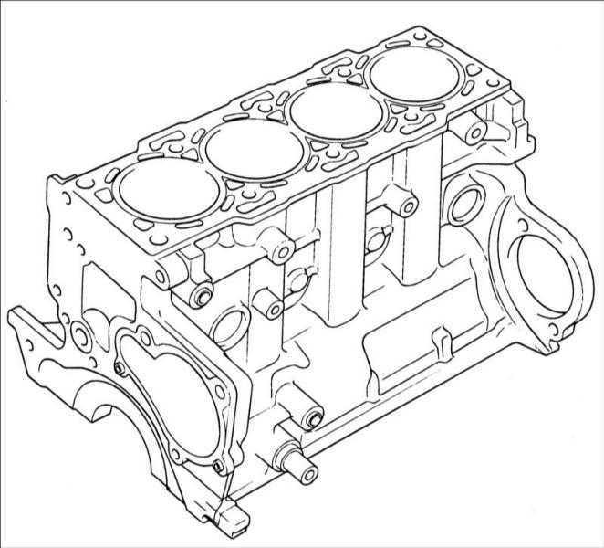 Блок цилиндров Hyundai Elantra 2000-2004