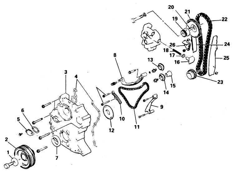 Цепь и крышка (двигатель 2,6 л) Mitsubishi Pajero 1982-1998