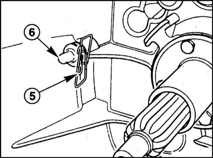 Снятие и установка механизма выключения сцепления BMW 5