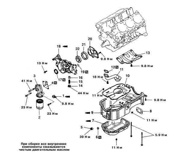 Снятие и установка масляного насоса Mitsubishi Galant 1990