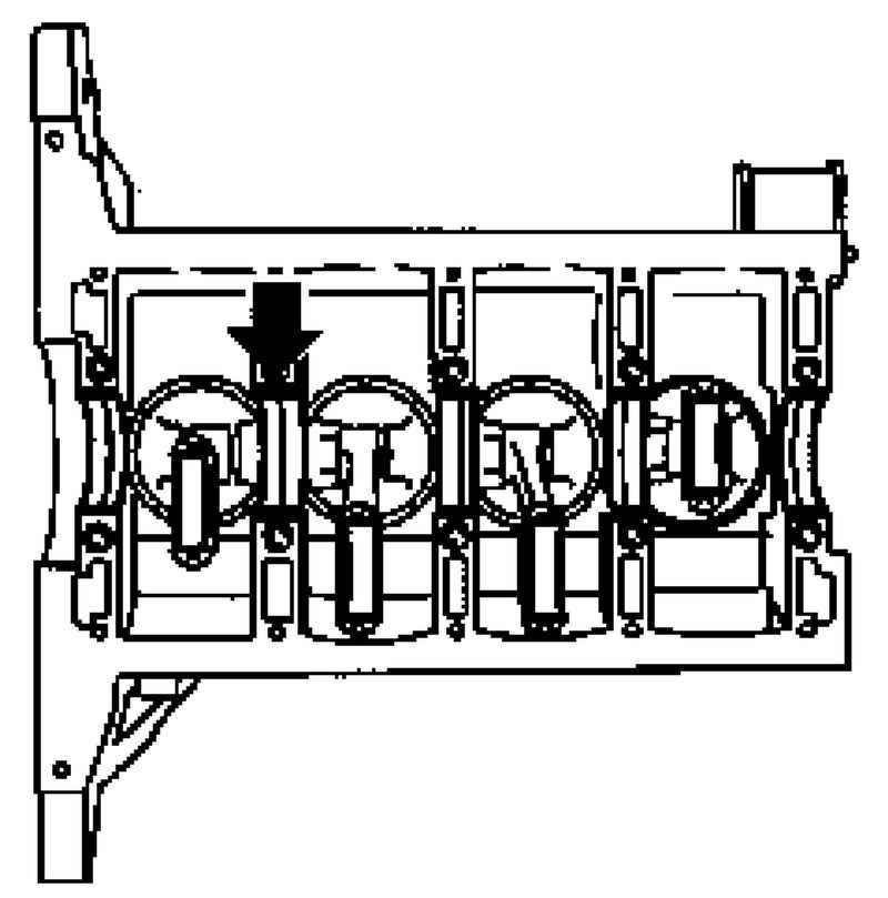 Снятие и установка коленчатого вала (двигатель 1,4 л) Opel
