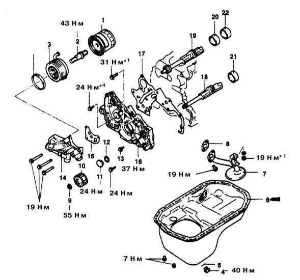Снятие и установка балансировочного вала Mitsubishi Galant