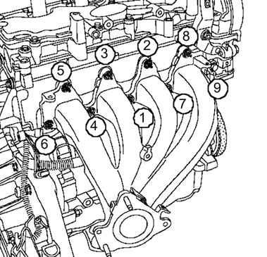 Снятие и установка выпускного коллектора (двигатели K4J