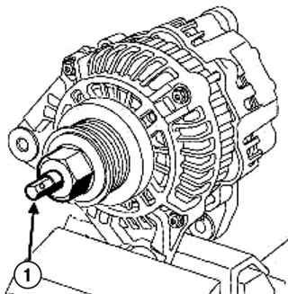Снятие и установка шкива генератора (двигатели K4J, K4M