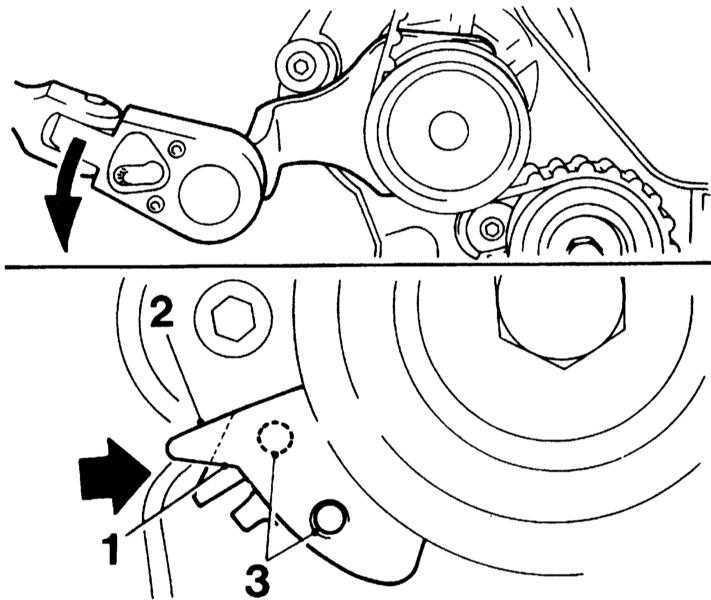 Снятие и установка ремня привода ГРМ Opel Corsa 1993-2000