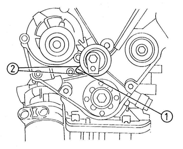 Снятие и установка натяжителя ремня и зубчатых колес