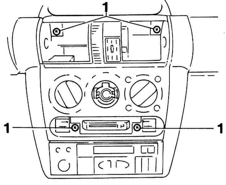 Снятие и установка блока управления отоплением Opel Corsa