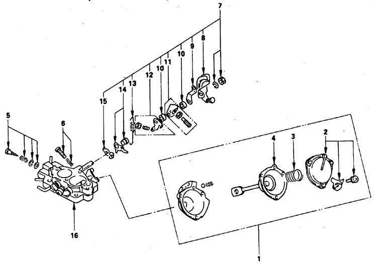 Снятие и установка карбюратора Isuzu Trooper 1989-1995