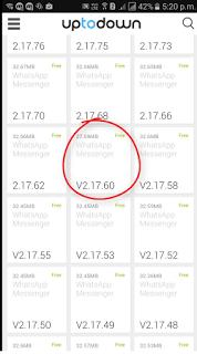 Downgrade WhatsApp in iPhone