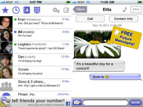 free sms app for iphone