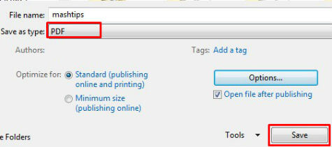 Save As Pdf Office 2010 Add In