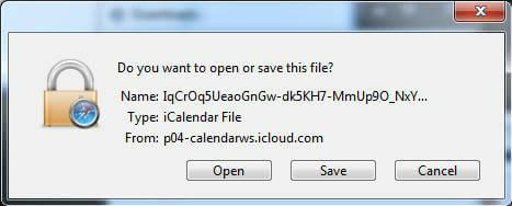 iCal-Save-File