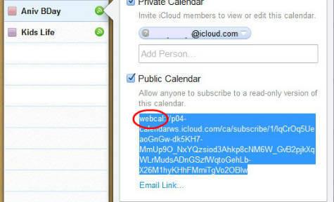 iCal-public