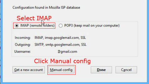 gmail imap thunderbird