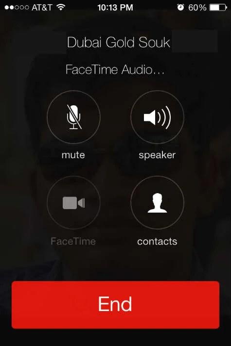 Free FaceTime International Audio Call