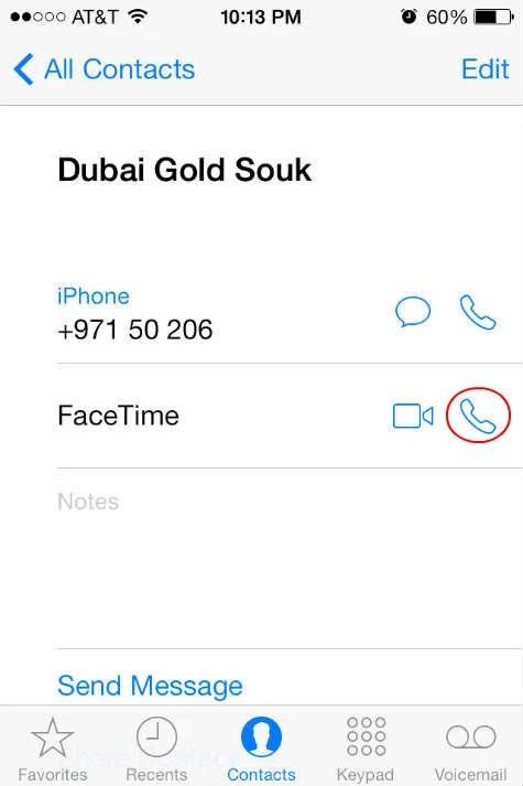iOS7 FaceTime Audio
