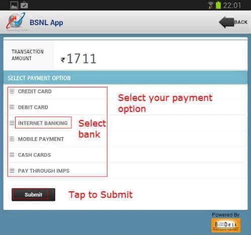 bsnl app payment 5