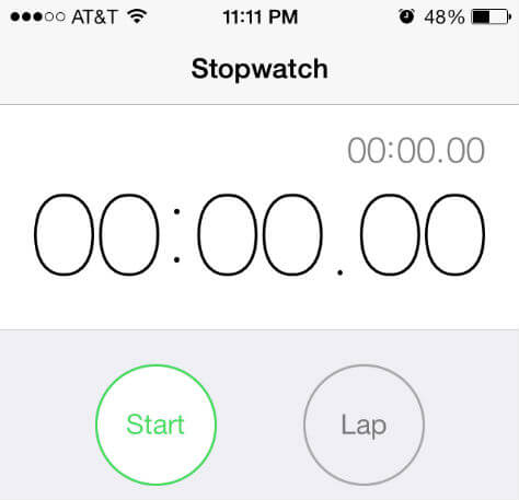iphone stop watch