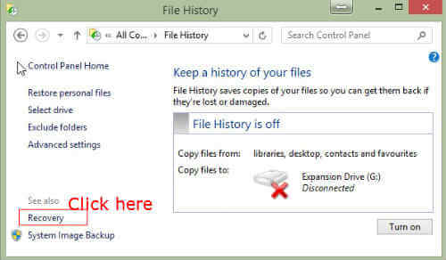 how to create system recovery