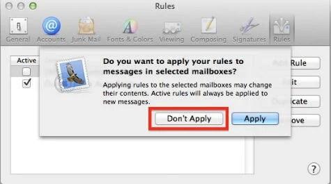 mac mail auto response setup apply rule
