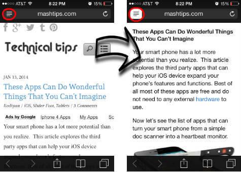 iOS Safari Reader