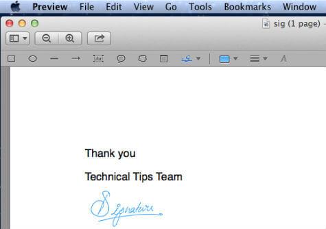 mac signature insert pdf