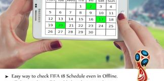 FIFA World Cup Calendar 2018 Download
