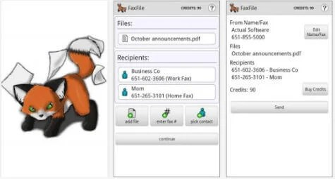 faxfile android app