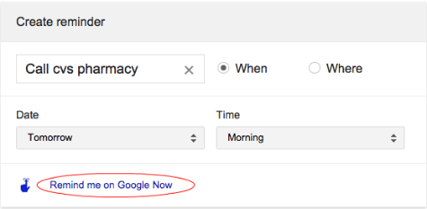 google now call reminder