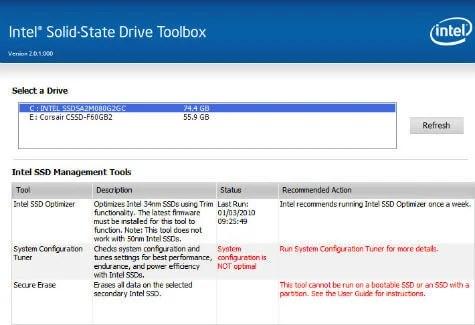 Intel SSD Toolbox Tweak