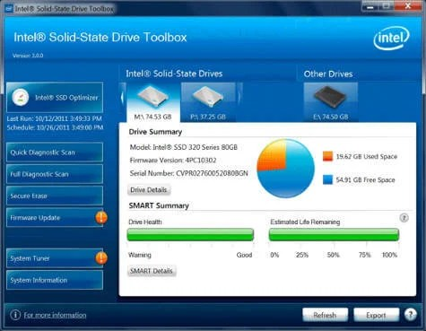 Intel Solid-State Drive Toolbox