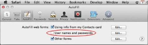 Safari Disable Autosaving Password