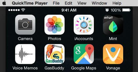 iPhone record screen top