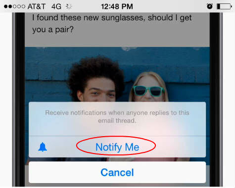 ios set email notify
