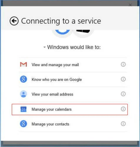 google calendar support windows 10