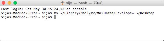mac mail terminal
