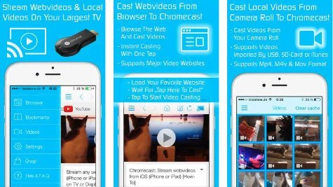 how to stream from iphone to tv 8 free ios apps to and photos to chromecast 20336