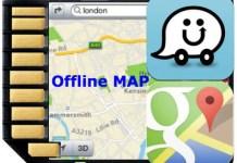 google waze offline map