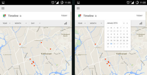 android location map history