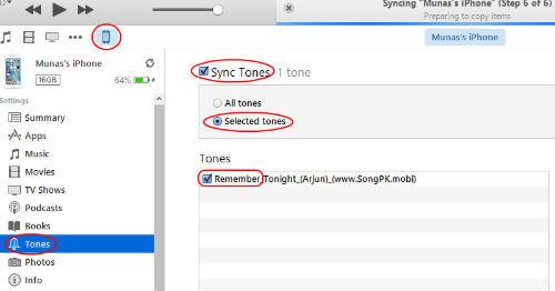 sync iphone music