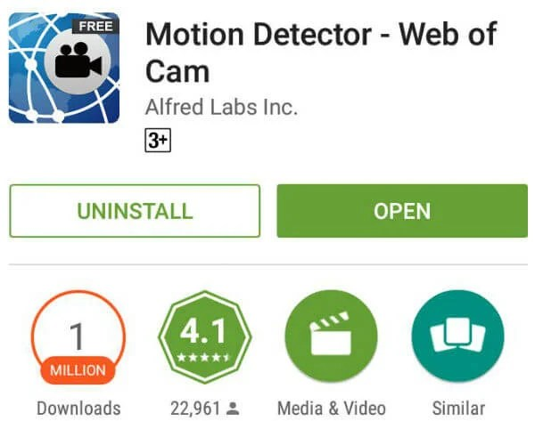 Motion Detector - Web of Cam