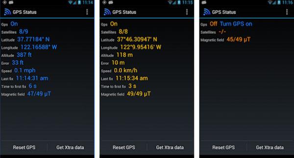 GPS Status Test & Fix