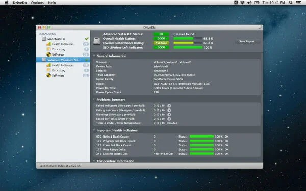Best 4 Mac SSD Life Time Monitor App to Keep an Eye on Data