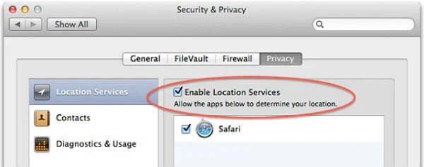 Enable Location Service