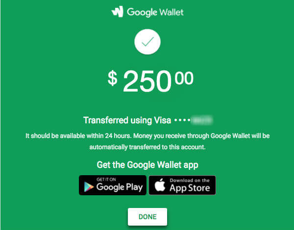 gmail money transfer wallet