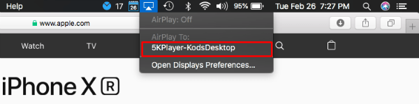 Mac AirPlay to Windows Screen
