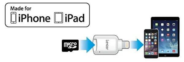 Lexar microSD To Lightning Reader