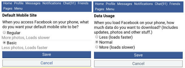 Facebook Regular Basic Less Normal More