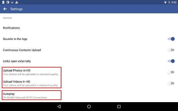 Facebook Upload HD Quality