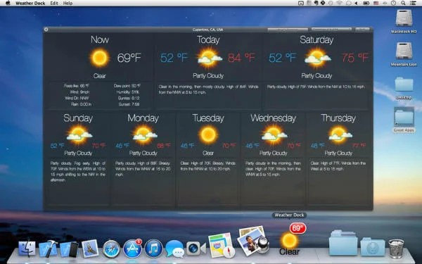 7 Best Mac Weather Apps that you Must have on Desktop | Mashtips